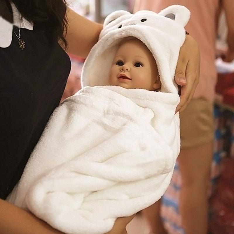 Doux Bébé Couvertures Bébé Enfants de Bain Serviettes Animaux Forme Serviette À Capuchon Belle Bébé Serviette De Bain Bébé Swaddle Wrap Capuche Peignoir