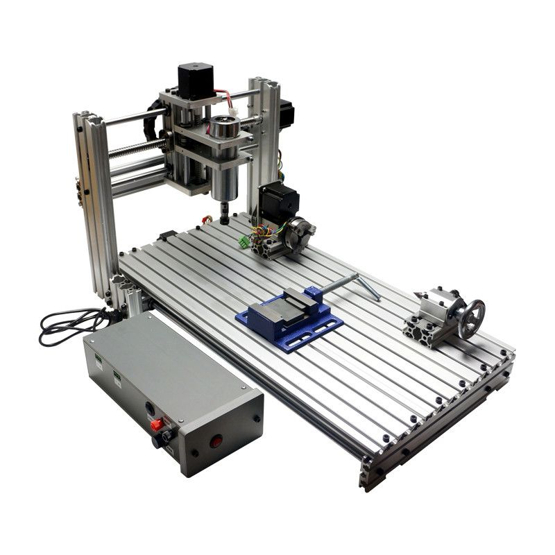 CNC milling machine DIY 6030 Mini wood router with working area 29X57X9cm PCB engraving