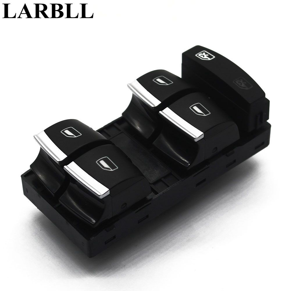 LARBLL New Chrome Master Window Switch For Audi A3 8P A4 S4 RS4 B6 B7 A6 S6 RS6 C6 Q7 4F0959851H