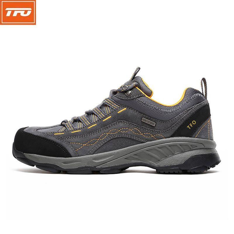 TFO Hommes Randonnée Chaussures de Sport de Marque Sneakers Homme Chaussures de Sport Imperméable Respirant Escalade Camping En Plein Air Chaussures 842556