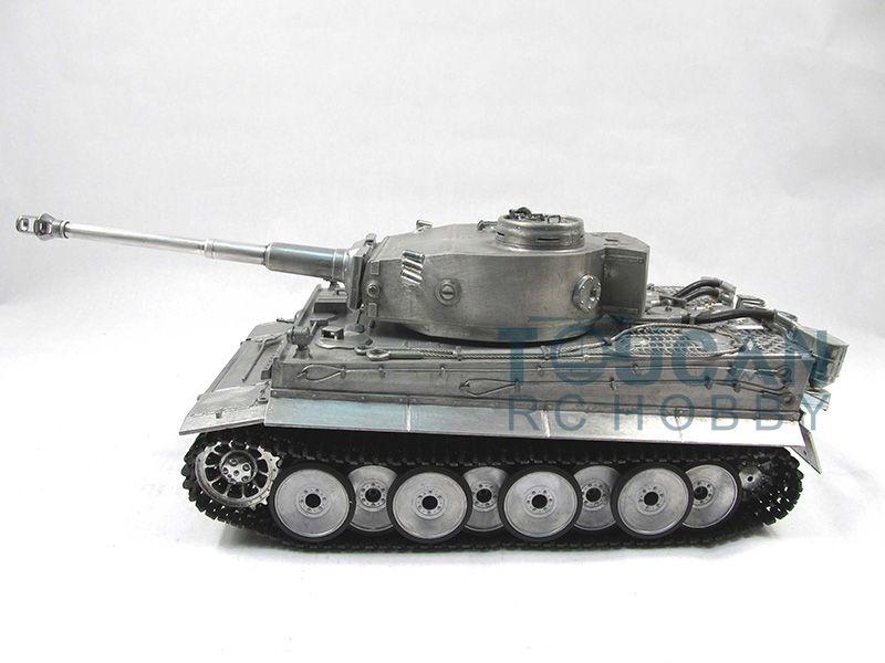100% Metal Mato 1/16 Tiger I RC RTR Tank Model Infrared Barrel Recoil Metal Color 1220