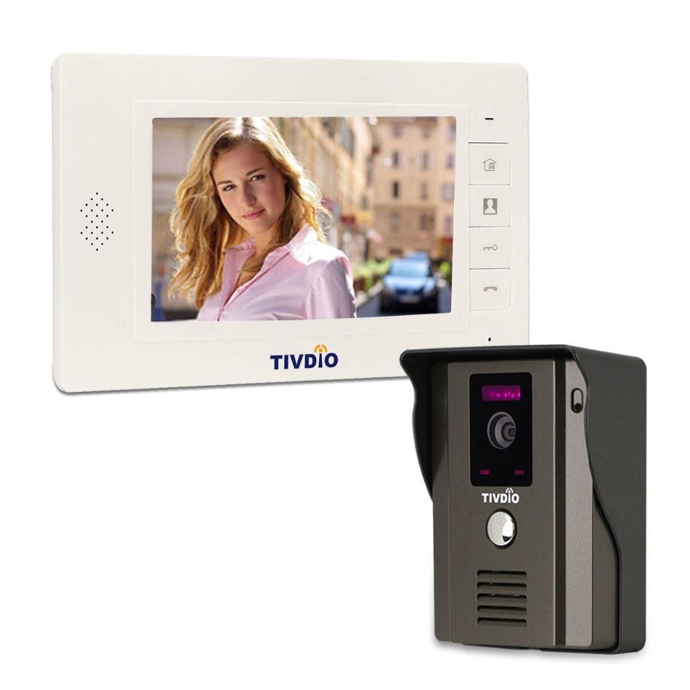 TIVDIO T-11D 7 Color Video Door Phone Video Intercom Door Visual Intercom IR Camera Doorbell for Home Apartment F9504