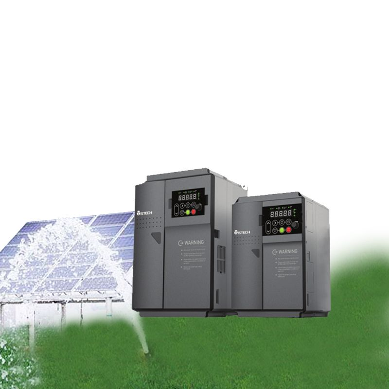 ISTECH Solar Water Pump Inverter DC/AC VFD Controller IST201-T5.5GB 5.5KW 3 PH/ Three Phase 380V Output for PV Pumping System