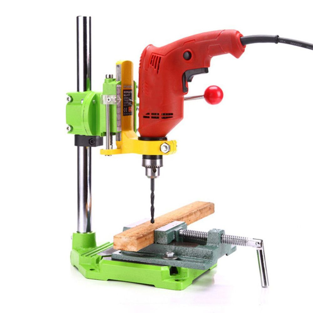 2018 New Electric Power Drill Press Stand Table Adjustable Workbench Repair Tool Clamp Drilling Collet Table Rotary 90 degree