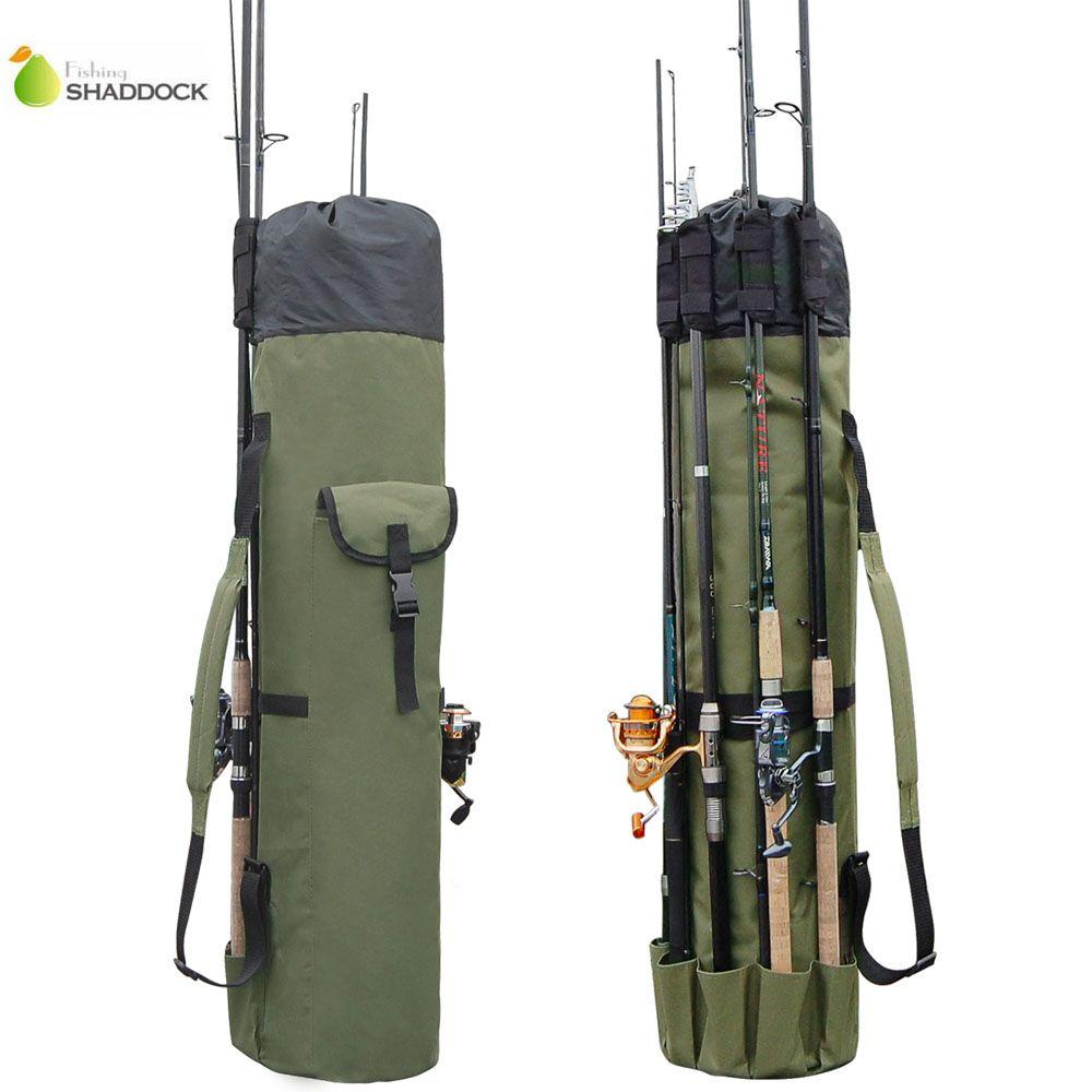 Shaddock Fishing Portable Multifunction Nylon Fishing Bags Fishing Rod Bag Case Fishing Tackle Tools Storage Bag