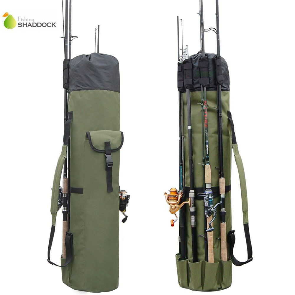 Shaddock Fishing Portable Multifunction Nylon Fishing Bags Fishing Rod Bag Case Fishing Tackle Tools Storage Bag