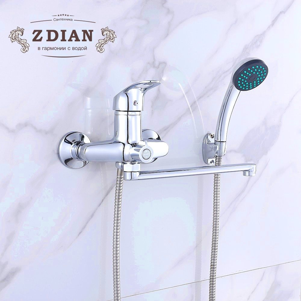 New 1 Set Bathroom Shower Faucet Set Chrome Bathtub Faucet Mixer Tap Wall Mounted Waterfall Bathtub Faucet With Hand