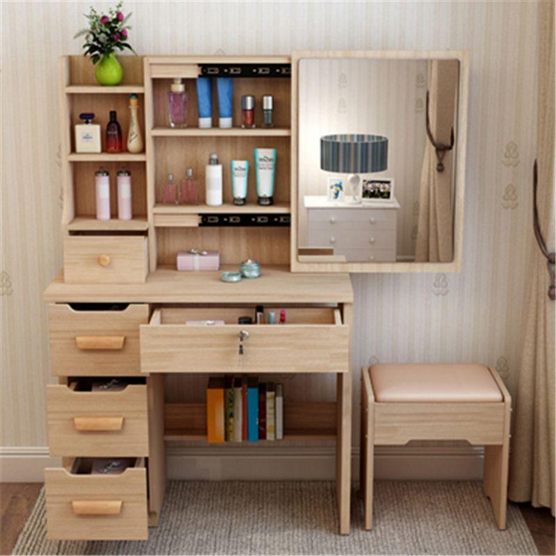 Schminktisch Eitelkeit Toaletka Make-Up Box Coiffeuse Schublade Tocador Slaapkamer Mesa Tisch Koreanische Schlafzimmer Möbel Quarto Kommode