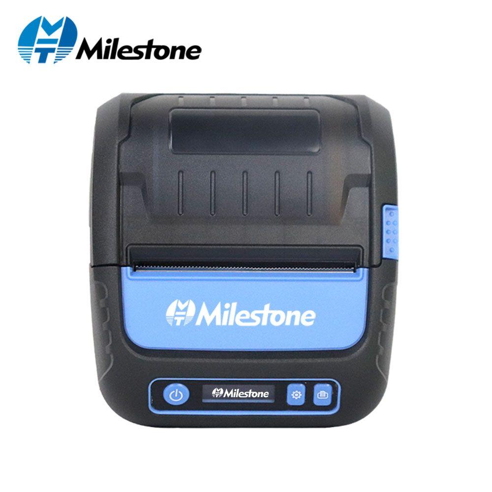 Milestone Thermische Drucker Label Empfang 80mm Portabel Mini Mobile Drucker Bluetooth Label Maker POS Android IOS MHT-P80F