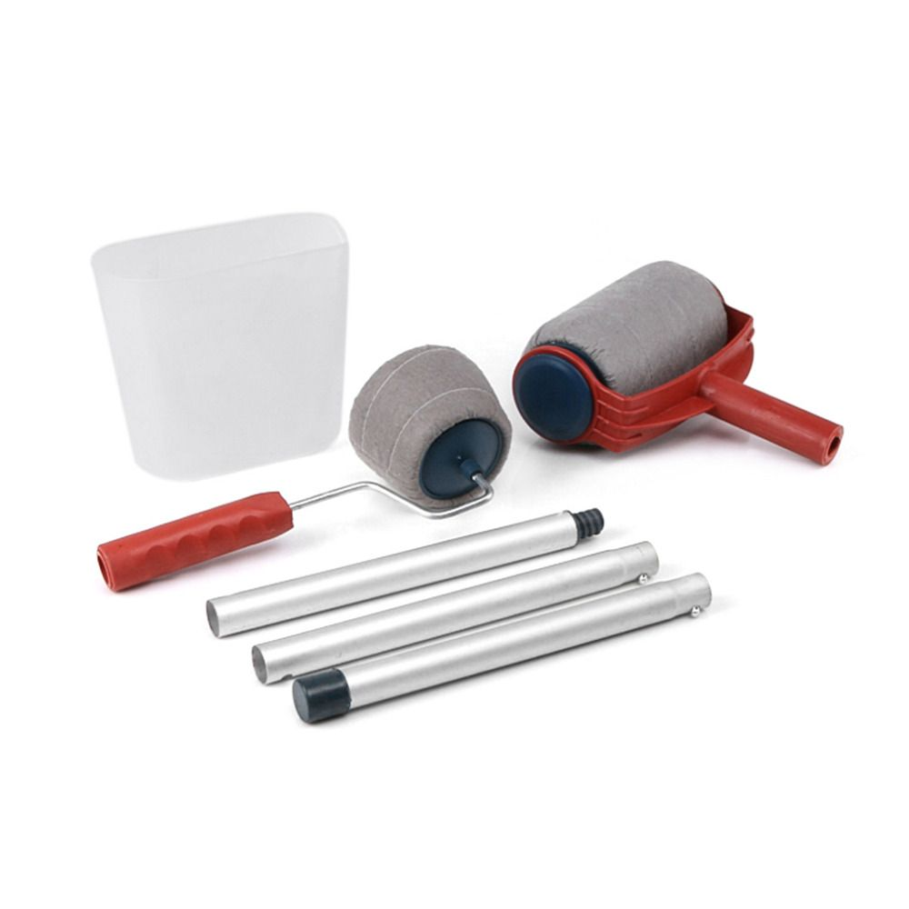 6Pcs/Set Practical Decoration Paint Roller Painting Brush Household Wall Tool Sets Painting Accessories Home Use Tools