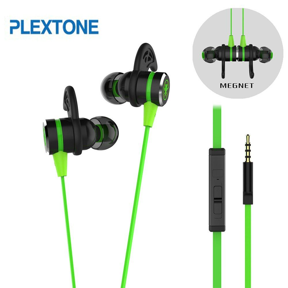 PLEXTONE G20 écouteurs Gaming magnétique stéréo in-ear écouteurs ordinateur écouteurs avec Microphone casque pour téléphone PC