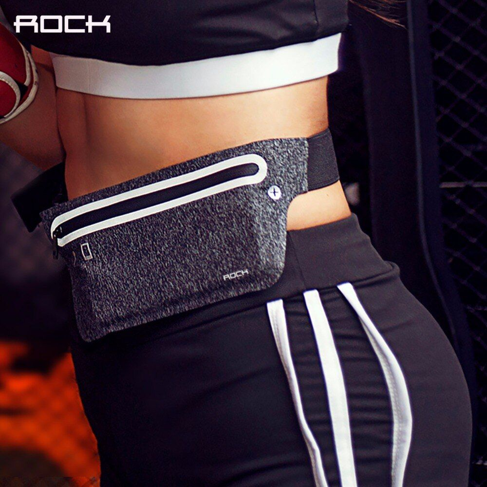 Universal 4-6 inch Sports Waist Bag for running fitness cycling, ROCK Professional Slim Phone Armband for iPhone/IOS/Android