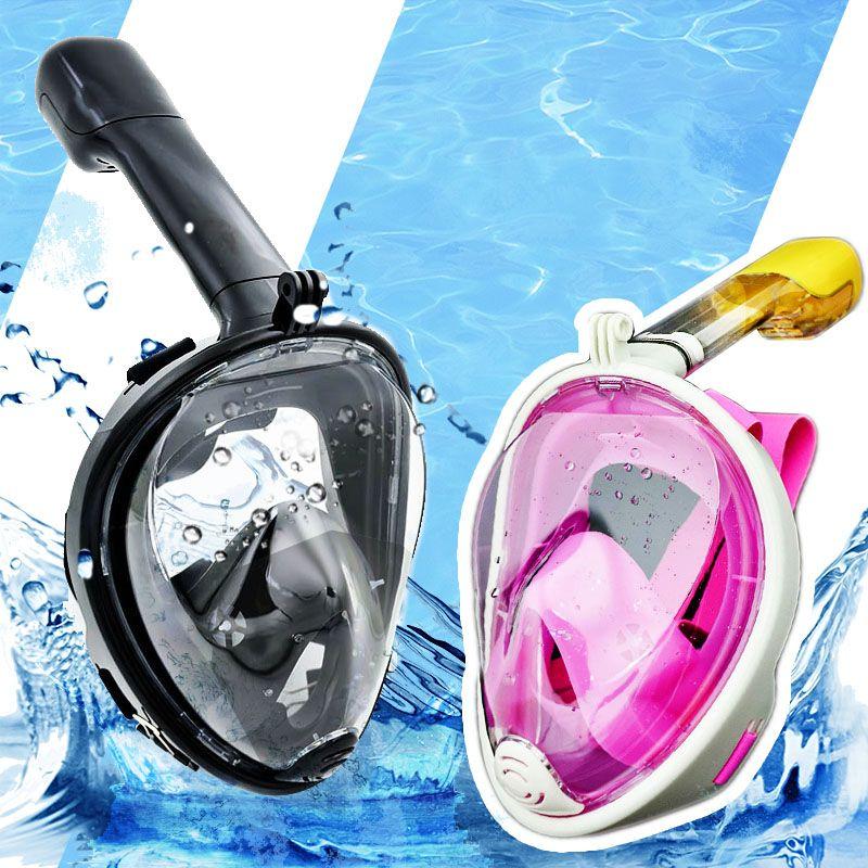 2018 New Professional Underwater Camera Diving Mask Scuba Snorkel Swimming Goggles for GoPro Xiaomi SJCAM SJ7 STAR Sports Camera
