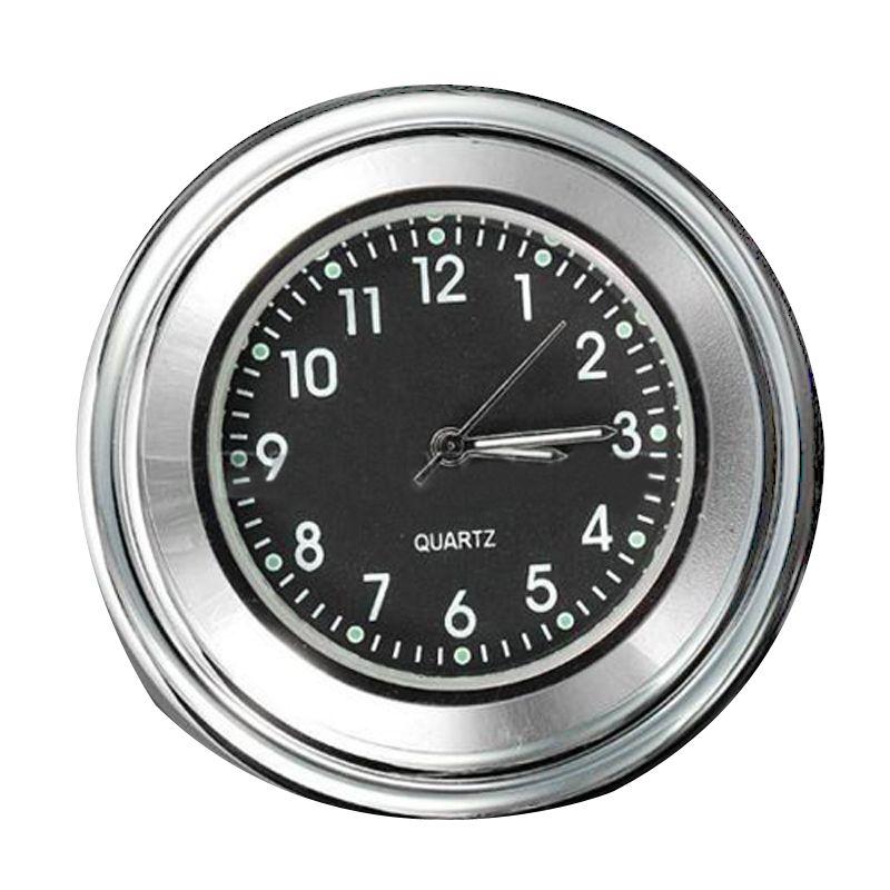 7/8 1 Universal Motorcycle Bike Handlebar Mount Dial Clock Waterproof