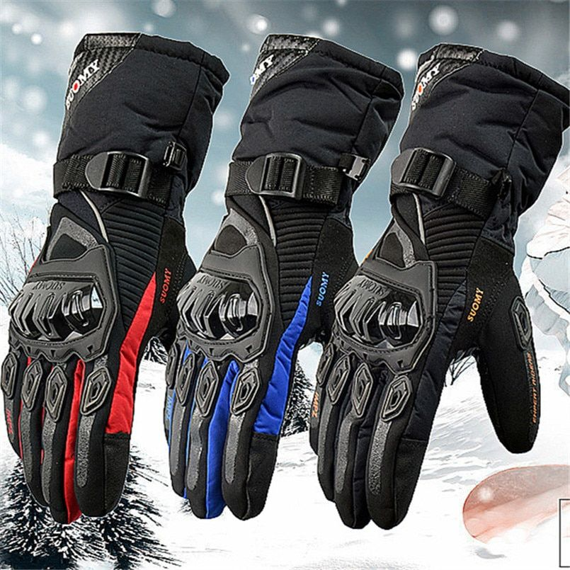 SUOMY motorcycle gloves 100% Waterproof windproof Winter warm Guantes Moto Luvas Touch Screen Motosiklet Eldiveni Protective