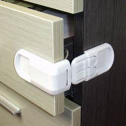 5 unids/lote niño bebé cerradura del cajón cerradura de seguridad cómodo funcional niños puerta nevera cerradura de seguridad higiénico plástico cerradura