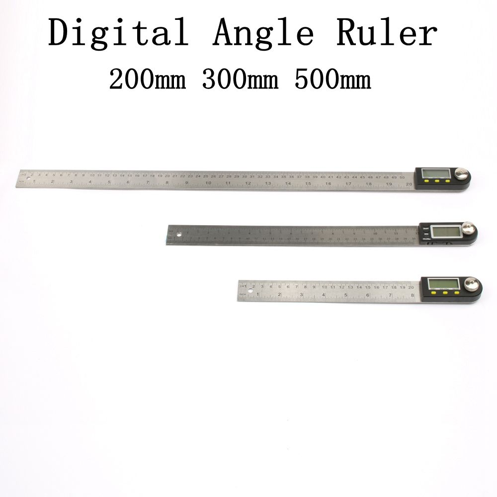 200mm Digital Protractor Inclinometer Goniometer <font><b>Level</b></font> Measuring Tool Electronic Angle Gauge Stainless Steel Angle Ruler 12