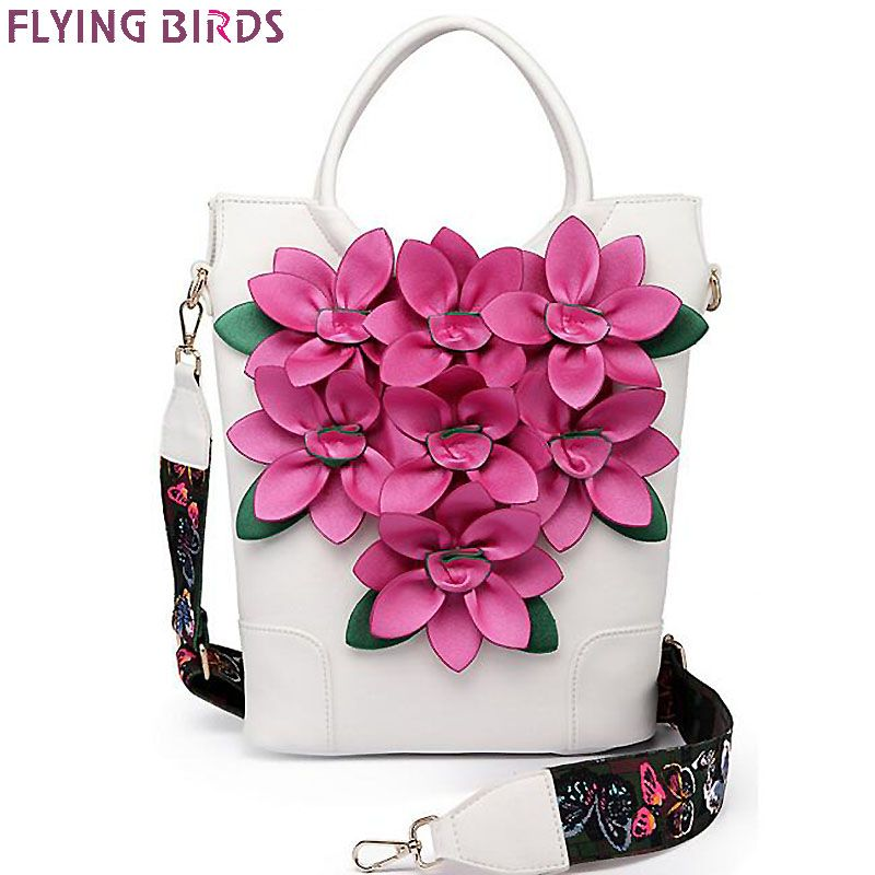 FLYING BIRDS Women Handbag luxury flower Tote Bag bucket Shoulder bag ladies Messenger Bags National style LM4384fb