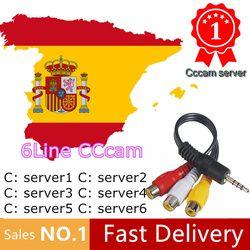 HD Cccams Cline para 1 año Europa envío satélite Ccam cuenta FHD 1080 p Sever Italia/España/francés /Alemania IKS 1 año TV Cable