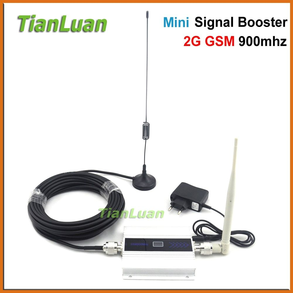 TianLuan LCD GSM Booster 2G Cell Phone GSM Signal Booster 900mhz Mobile Signal Repeater <font><b>Cellular</b></font> Amplifier with Antenna Full Set