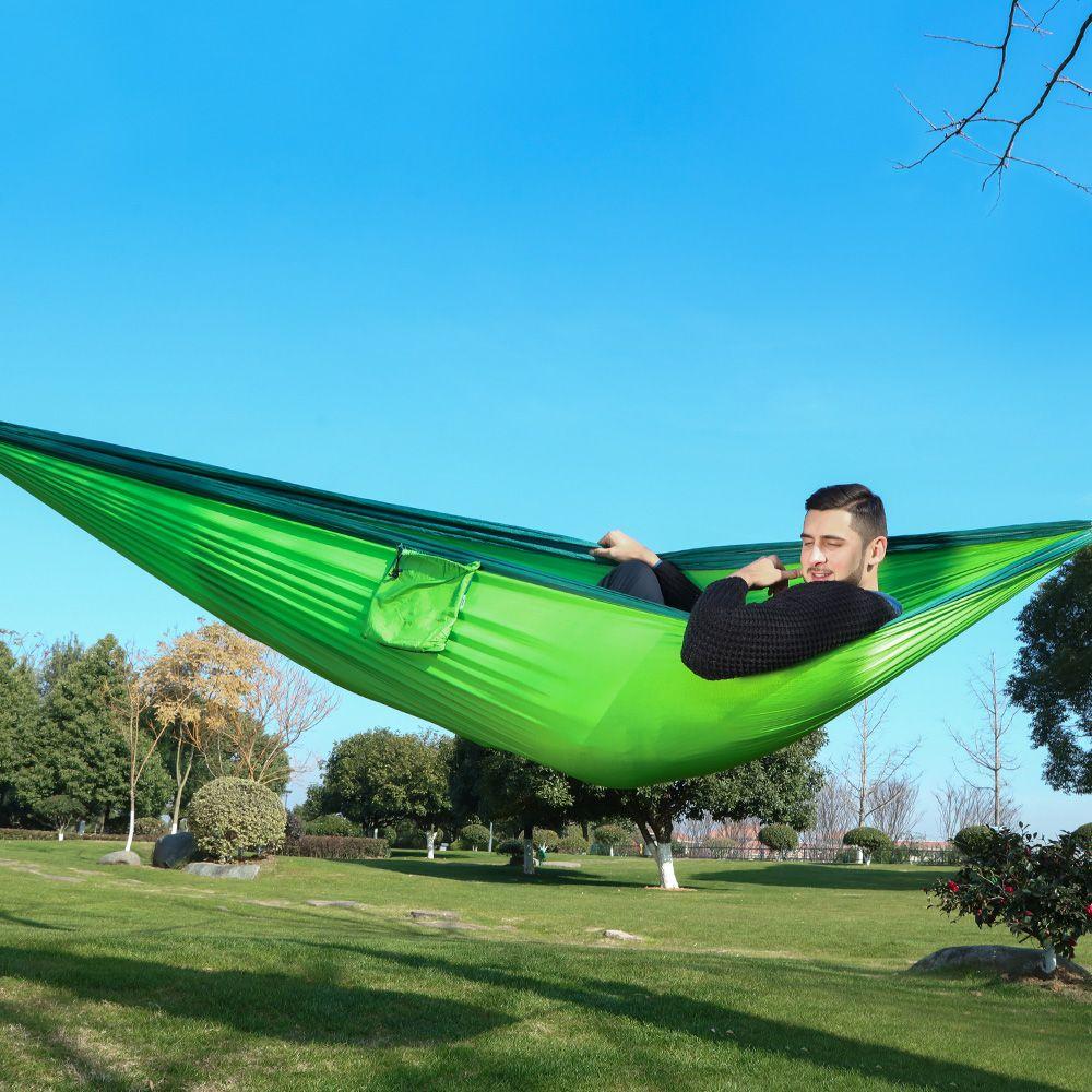 320*200cm Ultra-grand 2-3 personnes dormir Parachute hamac chaise Hamak jardin balançoire suspendu Hamacas extérieur Camping 125*78''