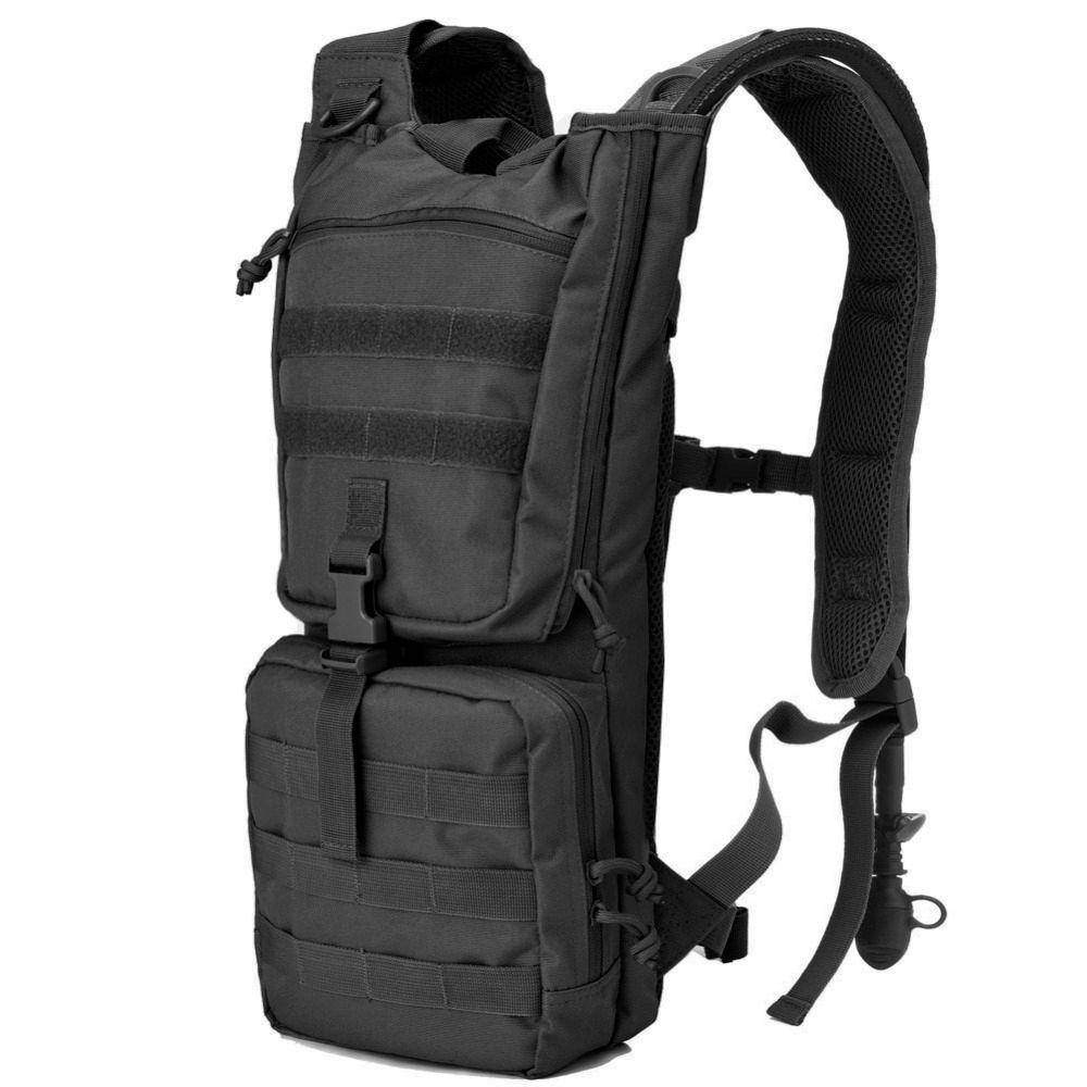 Taktische Trinkrucksack Rucksack mit 2.5L BPA FREI Wasser Blase, Outdoor Militärarmee Airsoft Molle Trinksysteme Rucksäcke