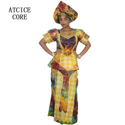 african dresses for women 100% COTTON NEW AFRICAN FASHION DEISGN BAIZN RICHE EMBROIDERY  african clothes