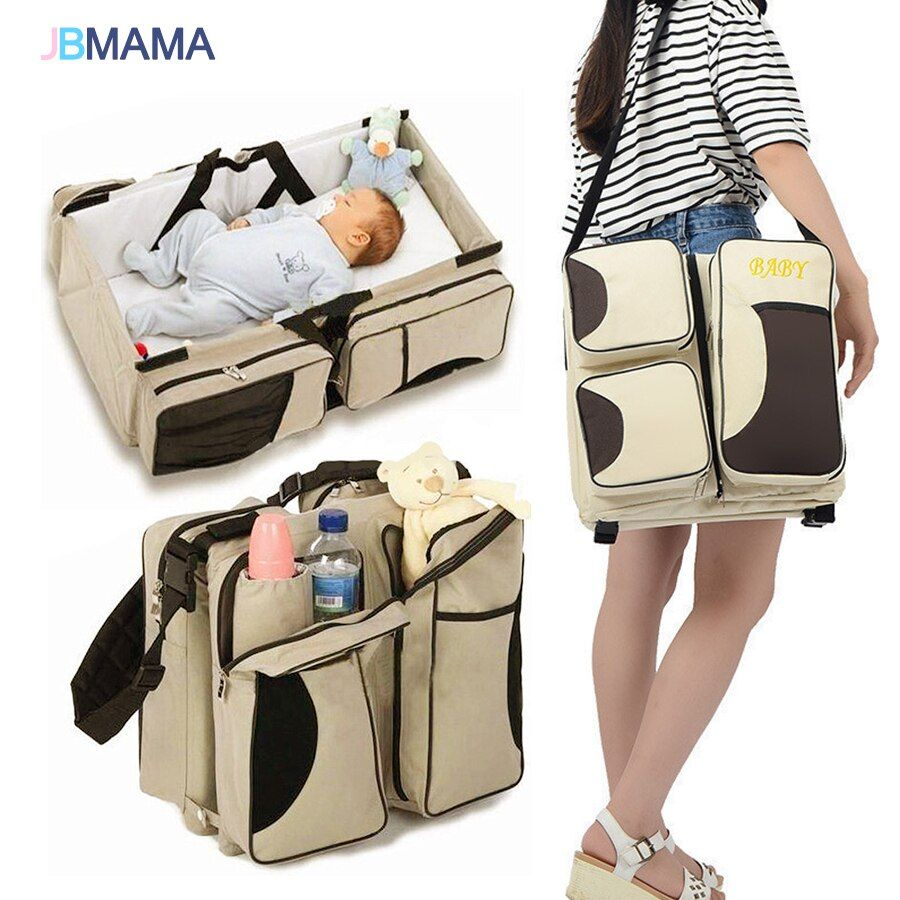 Multi-function portable foldable Travel out Changing diapers Exquisite Mummy pack A variety of color Newborns baby Crib bed
