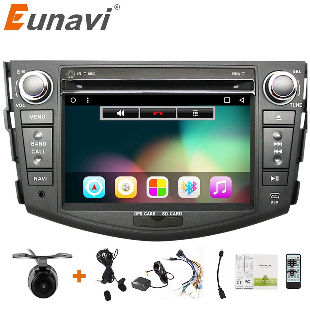 Eunavi 7'' 2 Din Android 7.1 Car DVD player for Toyota rav 4 RAV4 Audio Video Stereo 2din car radio GPS Navigation RDS 3G Wifi
