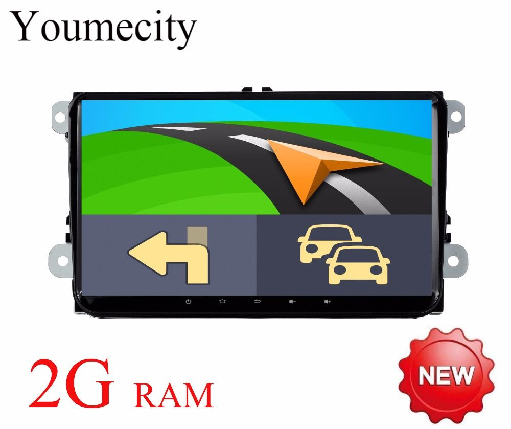 Youmecity 2016 Android 8.1 Car DVD player Gps for VW Tiguan Polo Golf 5 6 Radio wifi 3G/4G canbus Navigation map FM RDS BT USB