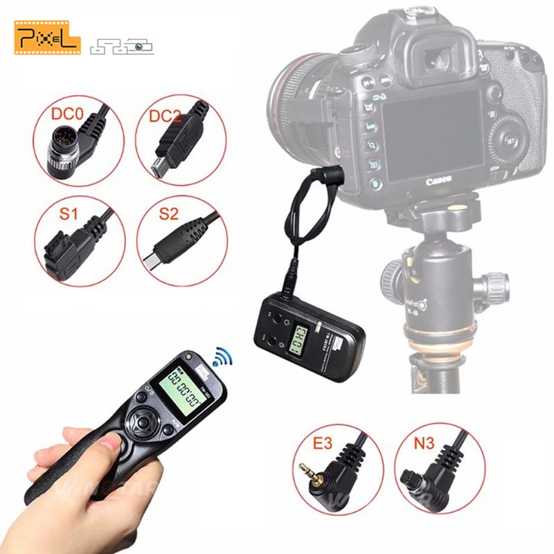 Pixel TW-283 Camera Shutter Release Wireless Timer Remote Control Cable For Canon Sony Samsung Nikon d3400 d7200 d7000 d5300