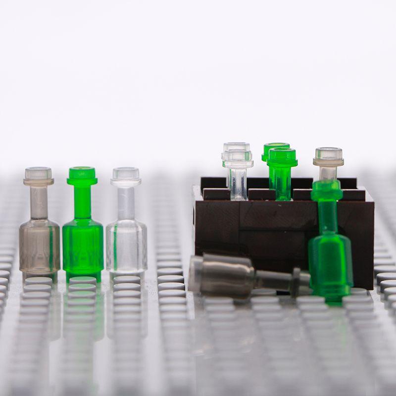 LegoINGlys City Accessories Building Blocks Wine Bottle Mini Drink Food Utensil Figure Parts Box Toys Compatible Military Bricks