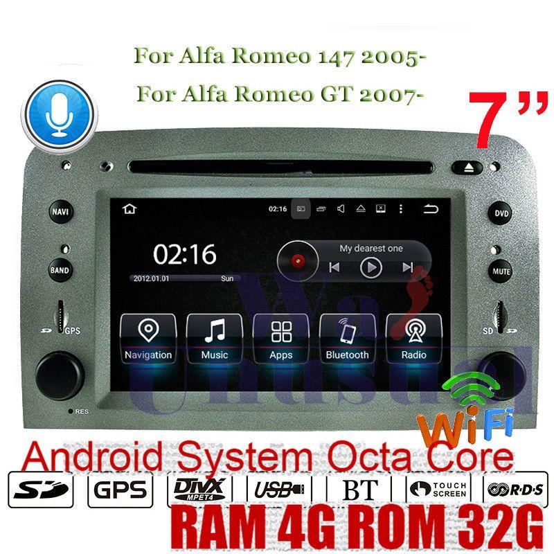 WANUSUAL 7 Inch Octa Core 32G Android 8.0 Auto GPS Navigation Für Alfa Romeo 147 2005-Alfa Romeo GT 2007-DVD Player Auto Radio