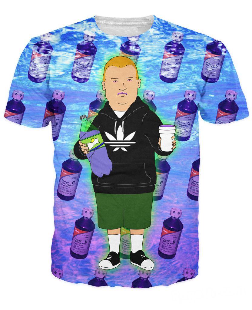 3D vêtements été Style Rap jeu Bobby Hill avec violet bu T-Shirt dessin animé roi de la colline Sexy T-Shirt pour femmes hommes 5XL R2899
