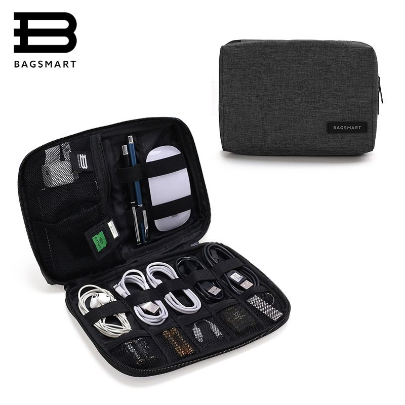 BAGSMART Electronic Accessories Packing Organizers for Earphone USB SD Card Charger Data Cable Travel Bag <font><b>Pack</b></font> Suitcase Case