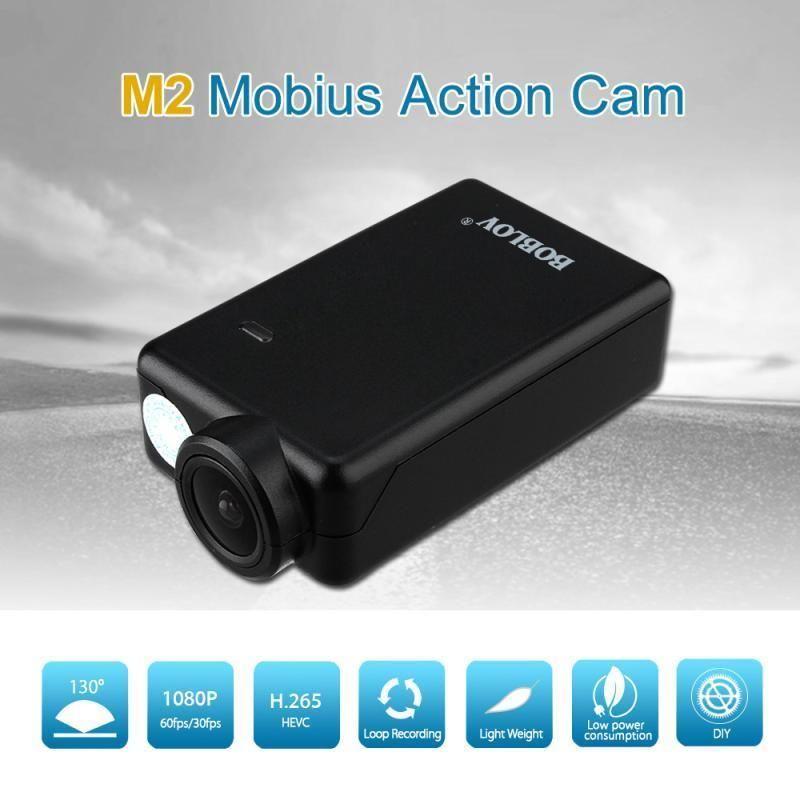 BOBLOV Meilleure Affaire Mobius 2 ActionCam 1080 P 130 Degrés Grand Angle Mini Sport Caméra FPV DashCam H.265 HEVC H.264 AVC