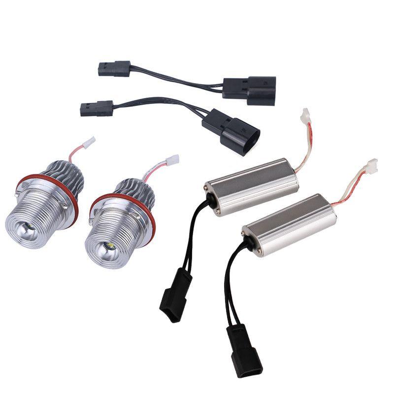2Pcs 10W Led Angel Eyes For BMW E39 6500K White LED Light Lamp Bulb For BMW E39 E53 E60 E61 E63 E64 E65 E66 E83 E87