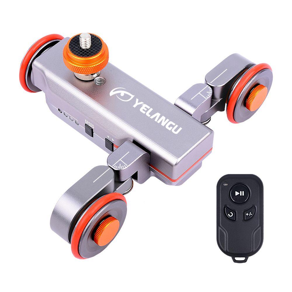 Yelangu DSLR Motorisé Électrique Autodolly Vidéo Poulie Roulant Skater Curseur w Télécommande pour iPhone Appareil Photo Canon Vlogging
