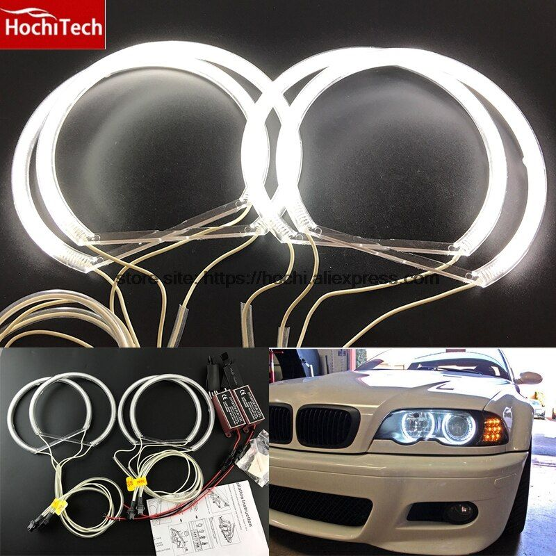 HochiTech CCFL Angel Eyes Kit Warm White Halo Ring 131mm*4 For BMW E36 E38 E39 E46 (With Original Projector)