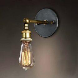 Eletorot Industrial Vintage luces aplique de pared Retro lámpara de pared 110 V-220 V E27/E26 baño interior dormitorio bar balcón pasillo