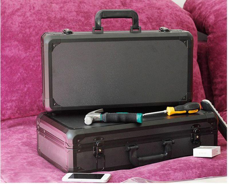 De aluminio caja de Herramientas caja de herramientas maleta caja de Archivo caja de equipo caja de la cámara de seguridad resistente a Los Impactos con revestimiento de espuma pre-cortada