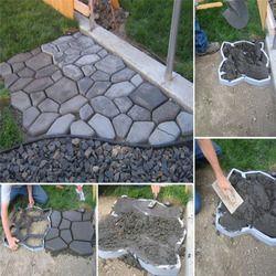 50*50*4.5 cm gran jardín DIY molde plástico del fabricante de la trayectoria pavimentación molde de cemento ladrillo decoración camino paso piedra fabricante