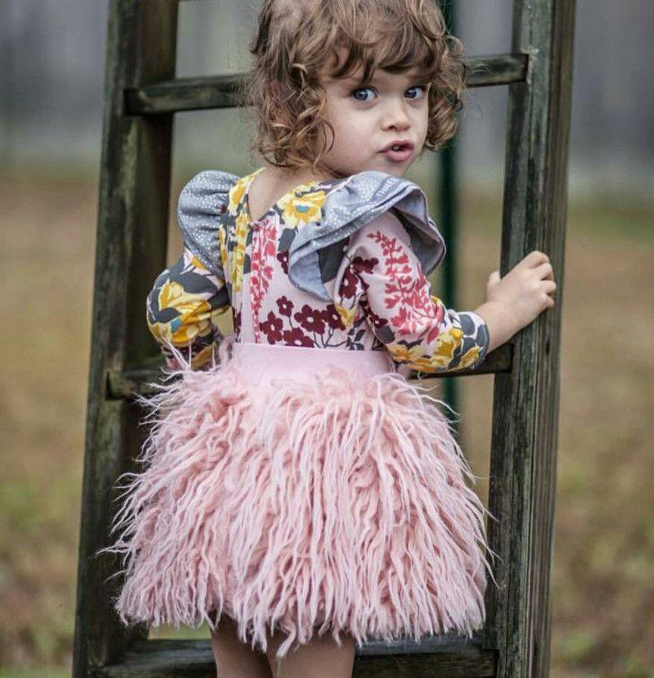 Custom 2017 New Princess Skirt Girls Pink Plush Short Saia Tutu Skirt  Fluffy Skirts Girls Jupe Tutu Enfant Tulle Skirt fur