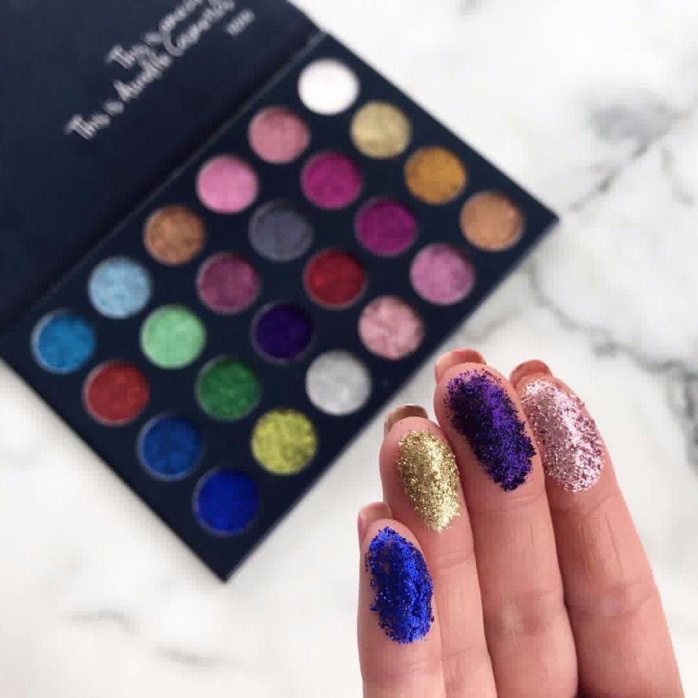Aurelife 24 Couleur Maquillage Glitter & 12 couleur matte shimmer Fard À Paupières, 4 couleur lueur Illuminateur kit Surligneur et Bronzer Palette