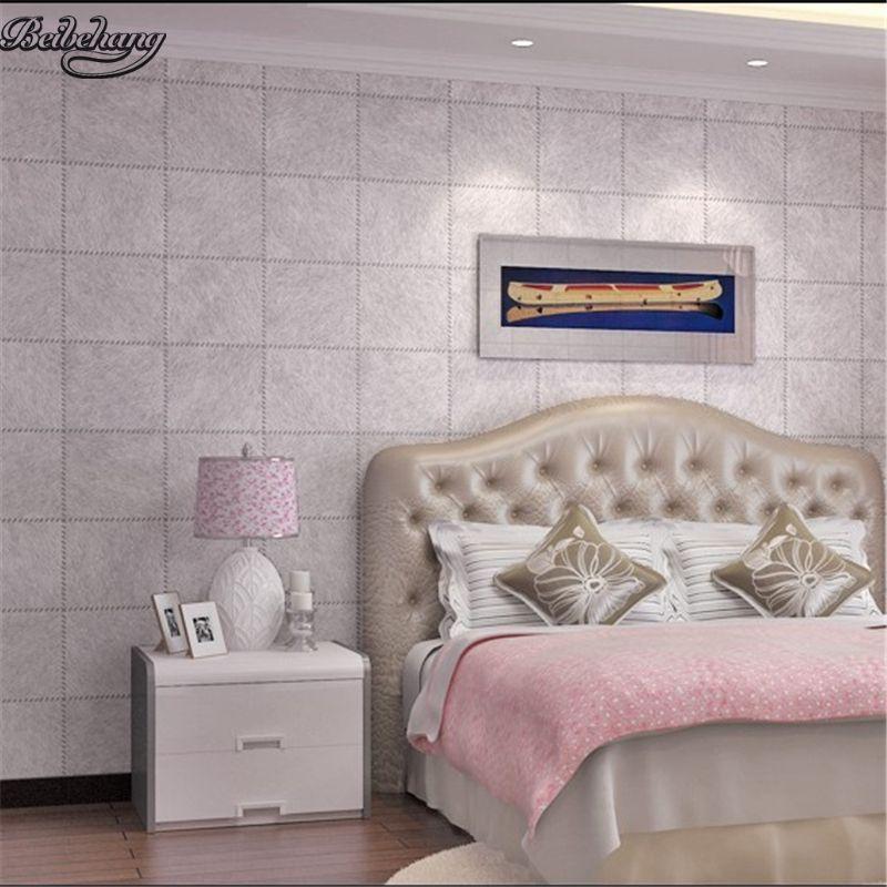 Beibehang Einfache leder geprägte beständig wasserdichte tapete plaid persönlichkeit wohnzimmer schlafzimmer TV wand dekoration