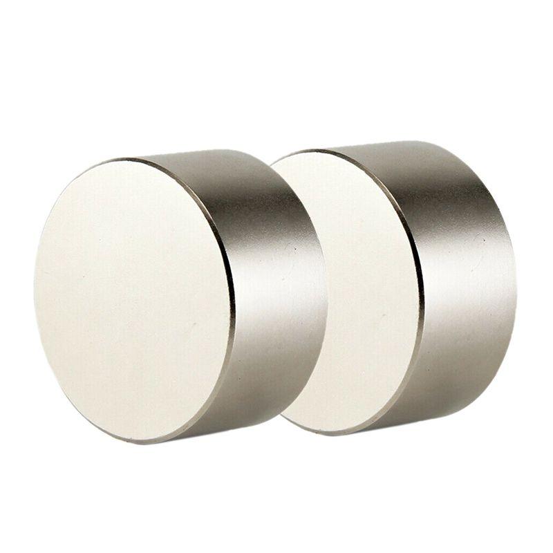 2 pièces Néodyme Aimant N52 40X20 Mm Rond Super Fort de Terre Rare Ndfeb Puissant Gallium Métal Haut-Parleur Magnétique