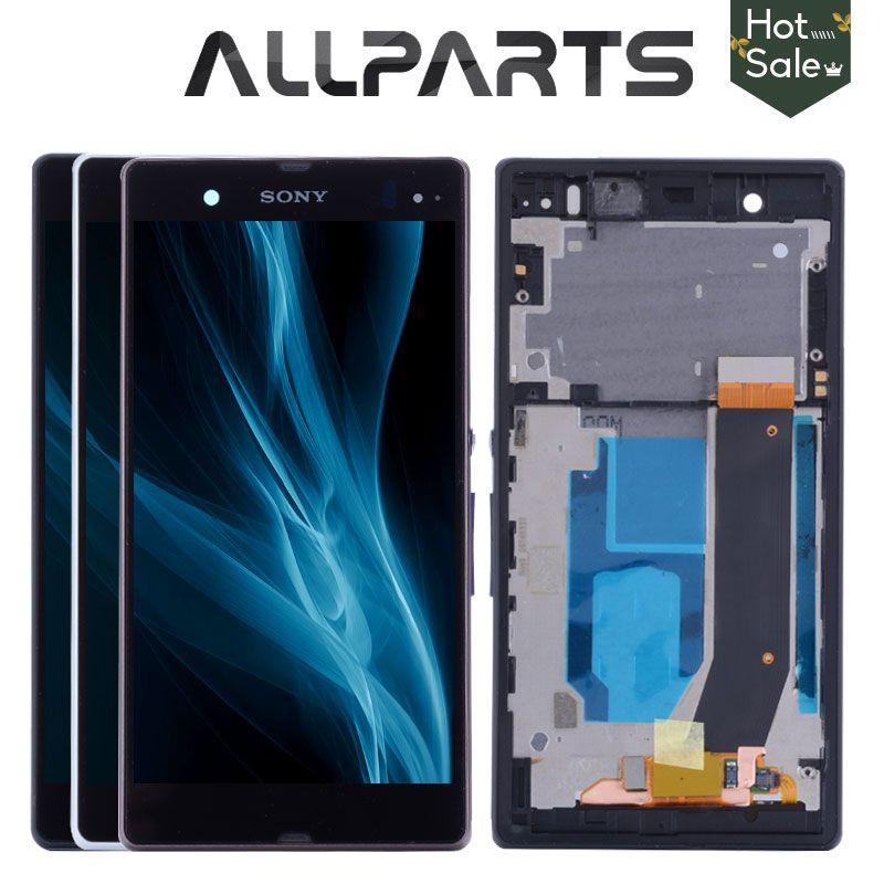 Affichage D'ORIGINE Pour SONY Xperia Z Écran LCD Tactile Digitizer Avec Cadre Pour SONY Xperia Z LCD L36H C6603 C6602
