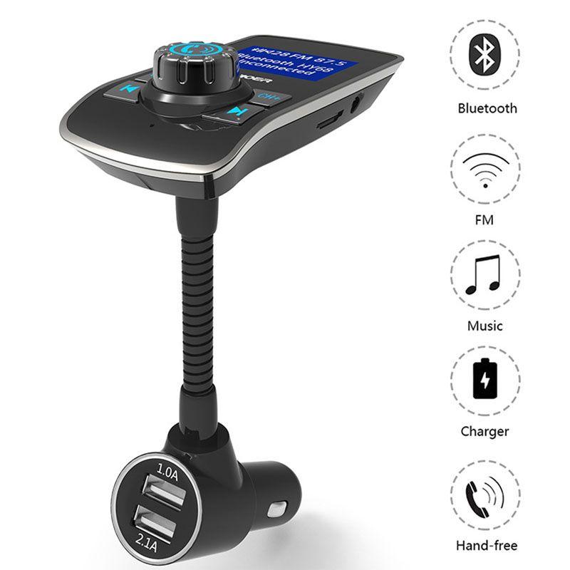 FM émetteur HY68 Bluetooth Mains Libres Max 5 V/3.1A Voiture Mp3 Lecteur Double USB Plug Soutien TF Carte D'affichage Numéros de téléphone