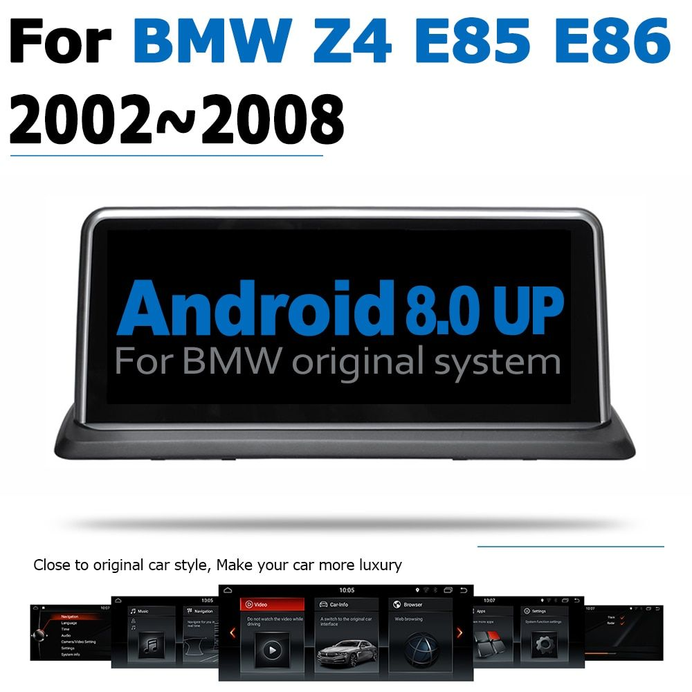 Android 8.0 2 + 32 Auto DVD Navi Player Für BMW Z4 E85 E86 2002 ~ 2008 Audio Stereo HD Touch bildschirm WiFi Bluetooth original stil