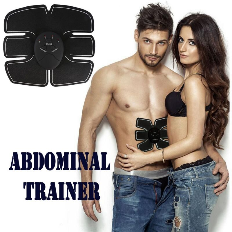 Electric Muscle Stimulator Abdominal Exercise Machine EMS Trainer Slimming Belt Fitness Body Building Strong Body